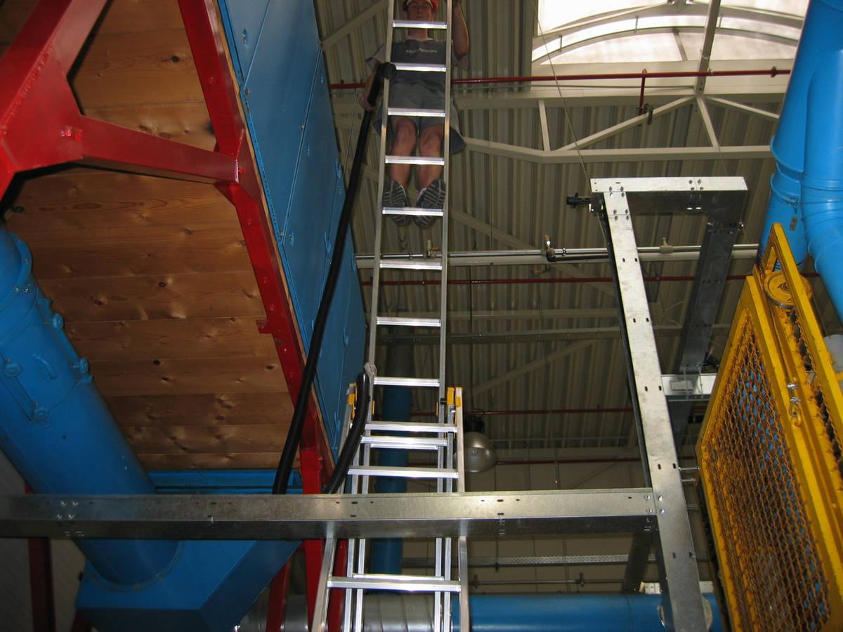 výškové čištění ze žebříku
